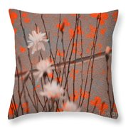 Contemporary Art - Butterfly Kisses - Luther Fine Art Throw Pillow