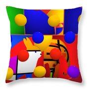 Contemporary Art Throw Pillow