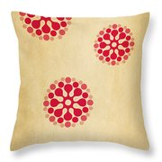 Contemporary Dandelions 1 Part 1 Of 3 Throw Pillow
