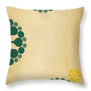 Contemporary Dandelions 1 Part 3 Of 3 Throw Pillow