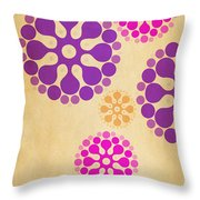 Contemporary Dandelions 2 Part 2 Of 3 Throw Pillow