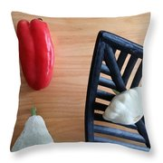 Contemporary Vegetables Throw Pillow