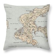 Continent Of Verme Throw Pillow