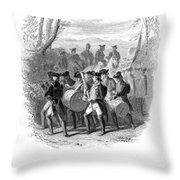 Continental Army Band Throw Pillow