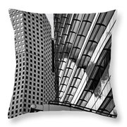 Continental Center I Houston Tx Throw Pillow by Christine Till