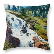 Continental Falls Throw Pillow