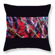 Continuum Iv Red Sky Throw Pillow