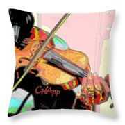 Contorno Fiddle II Throw Pillow