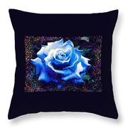 Contorted Rose Throw Pillow