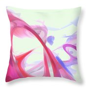 Contortion Pastel Abstract  Throw Pillow