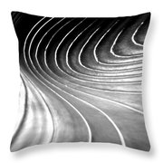 Contours 9 Throw Pillow