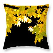 Contrast Of Autumn, Quincy California Throw Pillow