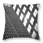 Contrasting Architecture Throw Pillow