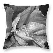 Contrasting Hibiscus Throw Pillow