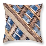 Contrasts - Period Architecture Of Asheville North Carolina Throw Pillow by Mark E Tisdale