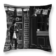 Convenience Store Throw Pillow