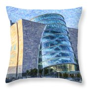 Convention Centre Dublin Republic Of Ireland Throw Pillow