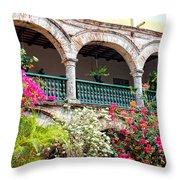 Convento De La Popa Cartagena Throw Pillow