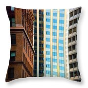 Convergence Throw Pillow by Mick Burkey