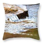 Converging Stream Water Throw Pillow