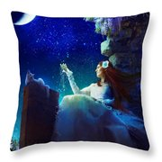 Conversation With The Moon Throw Pillow