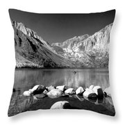 Convict Lake Pano In Black And White Throw Pillow