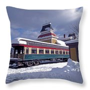 Conway Railroad Throw Pillow