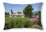 Conway Scenic Railroad - North Conway New Hampshire Usa Throw Pillow