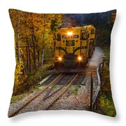 Conway Scenic Railway Throw Pillow