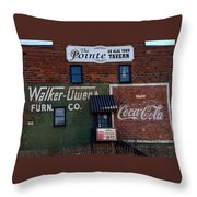 Conyers Advertisements Throw Pillow