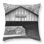 Conyers Covered Bridge Throw Pillow