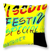 Conza's Biscuits In Soweto Throw Pillow by Funkpix Photo Hunter