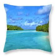 Cook Islands Lagoon Throw Pillow
