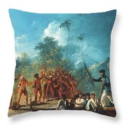 Cook New Hebrides, 1774 Throw Pillow