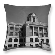 Cooke County Courthouse Bw Throw Pillow