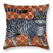 Cookie Cat Throw Pillow