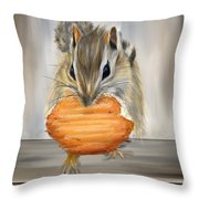Cookie Time- Squirrel Eating A Cookie Throw Pillow
