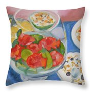 Cookies And Camellias Throw Pillow