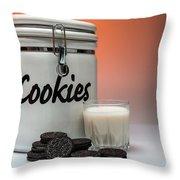 Cookies And Milk Throw Pillow