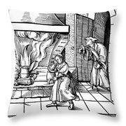 Cooking Roast, C1530 Throw Pillow