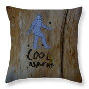 Cool Asacat Throw Pillow
