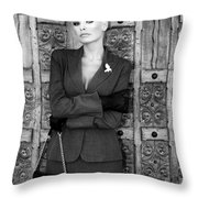 Cool Blonde Bw Palm Springs Throw Pillow