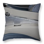 Cool Blue Abstract Throw Pillow