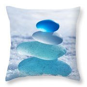 Cool Blues Throw Pillow