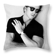 Cool Cal Bw Palm Springs Throw Pillow by William Dey