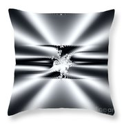 Cool Clean Stainless . Fractal Throw Pillow