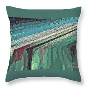 Cool Colors Abstraction Throw Pillow