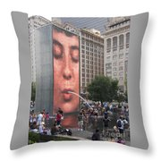 Cool Crowd Throw Pillow