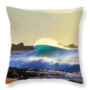 Cool Curl Throw Pillow by Sean Davey