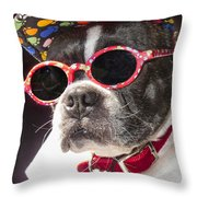 Cool Daddy Pooch Throw Pillow
